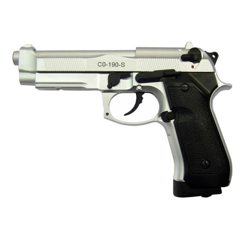 HFC BLOWBACK CO2 PISTOL HALF METAL SILVER (CO 190S)