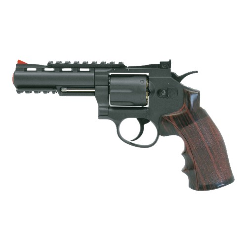 "WIN GUN CO2 REVOLVER 4"" BLACK (C 701)"