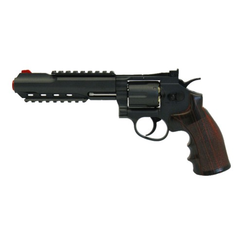 "WIN GUN CO2 REVOLVER 6"" BLACK (C 702)"