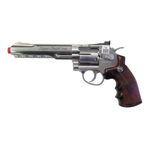 "WIN GUN CO2 REVOLVER 6"" SILVER (C 702S)"