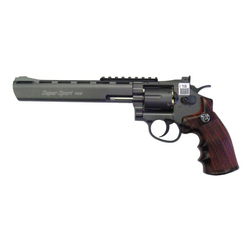 "WIN GUN CO2 REVOLVER 8"" BLACK (C 703B)"