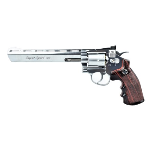 "WIN GUN REVOLVER CO2 8"" SILVER (C 703S)"