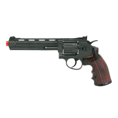 "WIN GUN CO2 REVOLVER 6"" BLACK (C 704)"