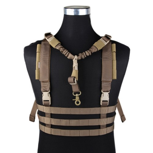 EMERSONGEAR MOLLE SYSTEM LOW PROFILE CHEST RIG COYOTE BROWN (EM7452D)