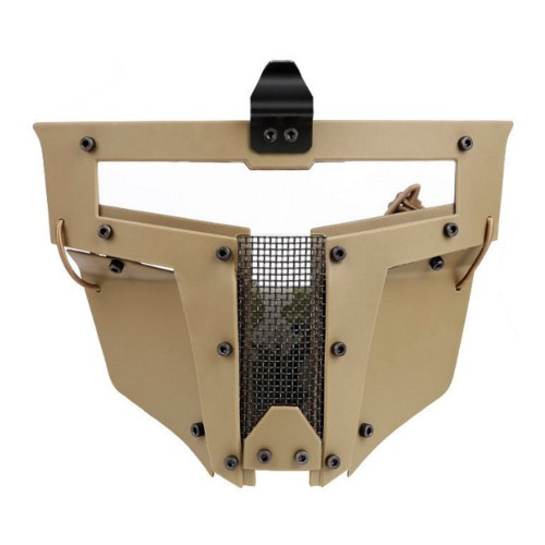 WOSPORT IRON WARRIOR FULL FACE MASK FOR FAST HELMETS TAN (WO-MA104T)