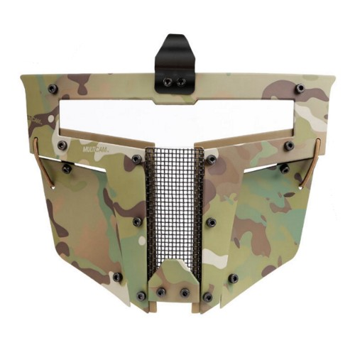 WOSPORT IRON WARRIOR FULL FACE MASK FOR FAST HELMETS MULTICAM (WO-MA104M)