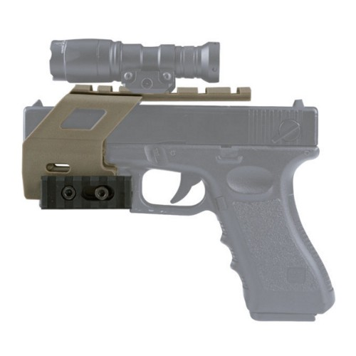WOSPORT RAIL BASE SYSTEM FOR GLOCK SERIES PISTOLS TAN (WO-GB49T)