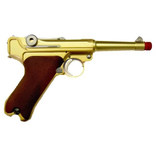 """WE PISTOLA A GAS P08 GOLD CANNA 4"""" (W-P08SG)"""