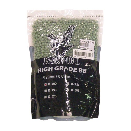 JS-TACTICAL BALL PELLETS 0,20G GREEN (JS-BB0.20V)
