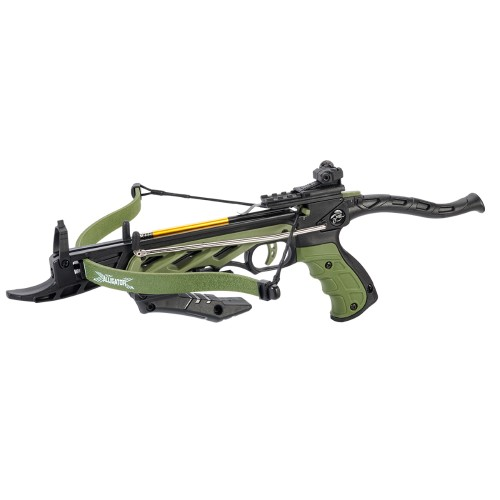MAN KUNG RECURVE CROSSBOW PISTOL ALLIGATOR TCS1 80 LBS GREEN (MK-TCS1G)