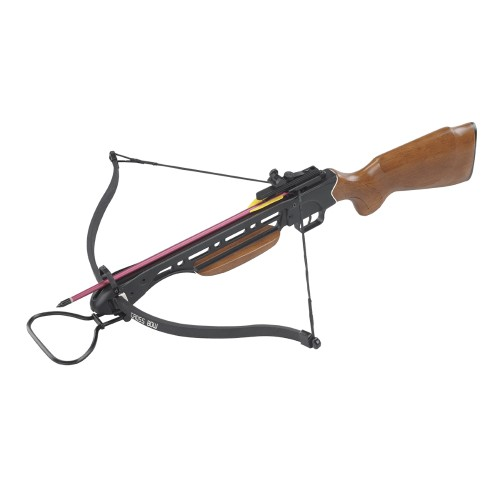 MAN KUNG RECURVE CROSSBOW 150LBS WOODEN STOCK (MK 150A1)