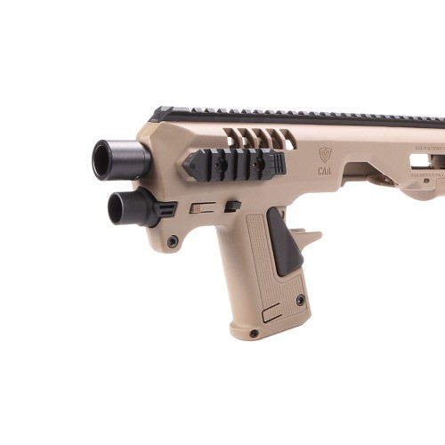CAA MICRO RONI KIT CARBINE CONVERSION KIT FOR GLOCK 17-19-22 SERIES DARK EARTH (CD-SK8T)
