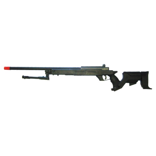 WELL SNIPER BOLT ACTION RIFLE WITH BIPOD BLACK (MB04BB)