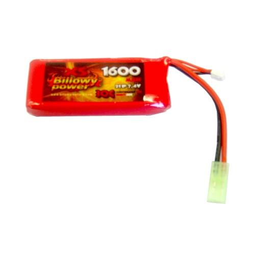 BILLOWY POWER LI-PO BATTERY 7.4V X 1600MAH 30C (BL-7.4X1600)