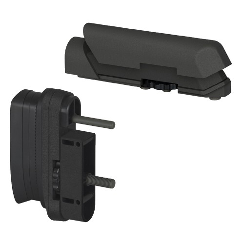 AMOEBA BUTT PAD AND CHEEK PAD SET FOR STRIKER AS01 BLACK (AR-ASPAD01B)