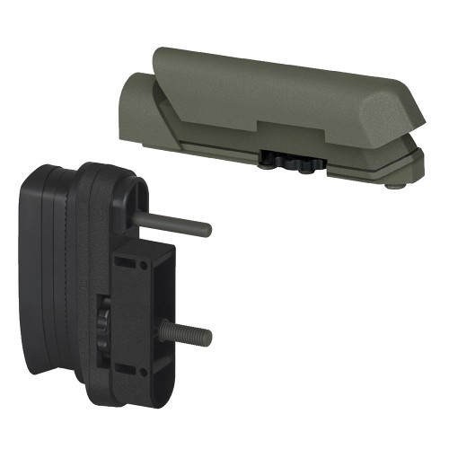 AMOEBA BUTT PAD AND CHEEK PAD SET FOR STRIKER AS01 OLIVE DRAB (AR-ASPAD01V)