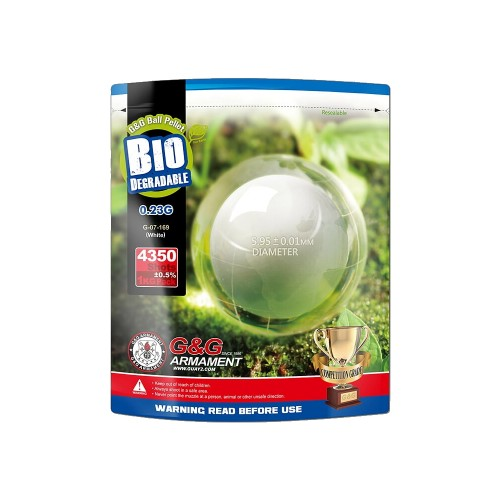 G&G BIO BALL PELLETS 0.23g WHITE (G&G BIO 0.23)
