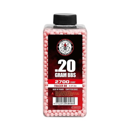 G&G TRACER BB 0.20G BOTTLE 2700 BB RED (G07266)
