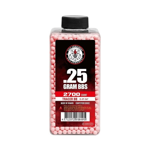 G&G TRACER BB 0.25G 2700 BB BOTTLE RED (G07267)