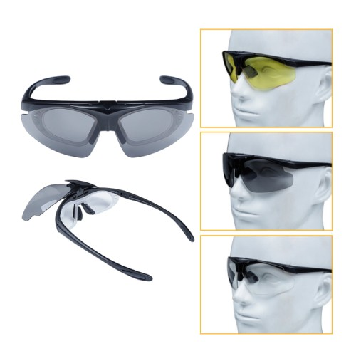 SHOOTING GLASSES BLACK FRAME (6055B)