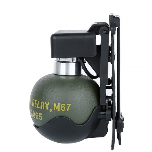 WOSPORT DUMMY M67 GRENADE SET WITH MOLLE MOUNT BLACK (WO-EX06B)