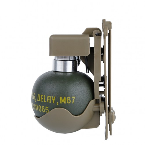 WOSPORT DUMMY M67 GRENADE SET WITH MOLLE MOUNT TAN (WO-EX06T)
