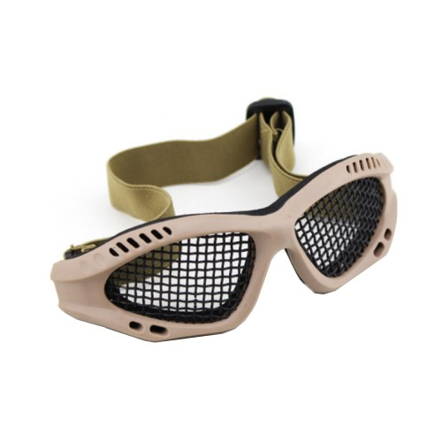 WOSPORT TACTICAL GOGGLES WITH STEEL MESH TAN (6059T)