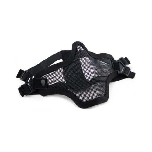 WOSPORT STEEL MESH MASK BLACK (KR001B)