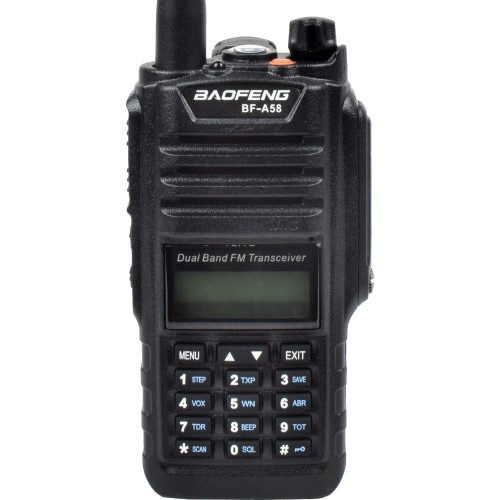 BAOFENG DUAL BAND VHF/UHF FM RADIO WATERPROOF AND DUSTPROOF (BF-A58)