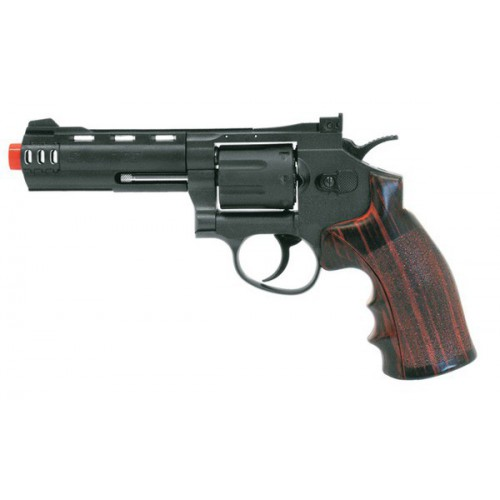 "WIN GUN CO2 REVOLVER 4"" BLACK (C 705)"