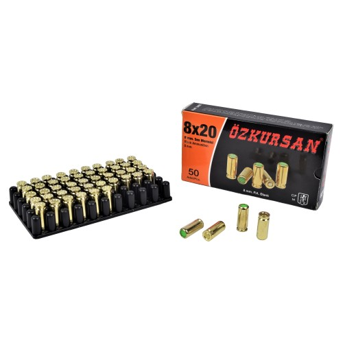 OZKURSAN BLANK CARTRIDGES CALIBER 8MM 50 PCS (CT12)