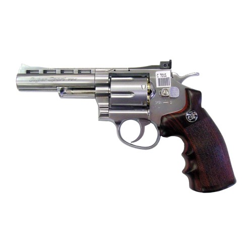 "WIN GUN CO2 REVOLVER 4"" SILVER (C 701S)"