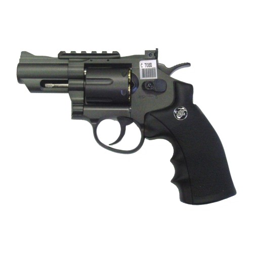 "WIN GUN CO2 REVOLVER 2,5"" BLACK (C 708B)"