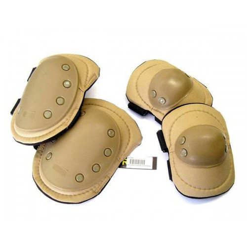 ROYAL KNEE PADS AND ELBOW PADS TAN (G1 T)