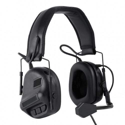 WOSPORT COMMUNICATION HEADSET WITH SOUND PICKUP AND NOISE REDUCTION BLACK (WO-HD09B)