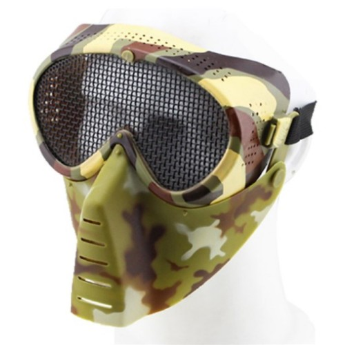 SMALL FLY MASK WITH STEEL MESH ITALIAN CAMO (KR014TC)