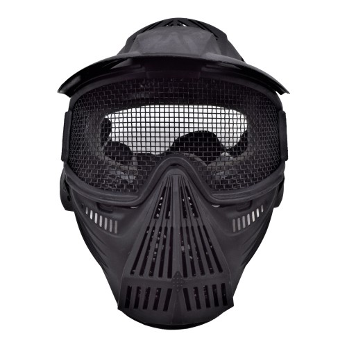WOSPORT MASK WITH STEEL MESH BLACK (C007B)