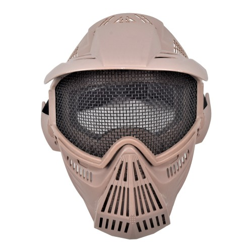 ROYAL MASK WITH STEEL MESH TAN (C007T)