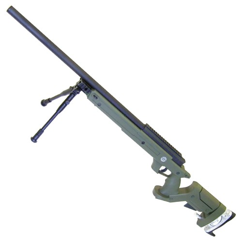 WELL SNIPER BOLT ACTION RIFLE WITH BIPOD OLIVE DRAB (MB05BV)