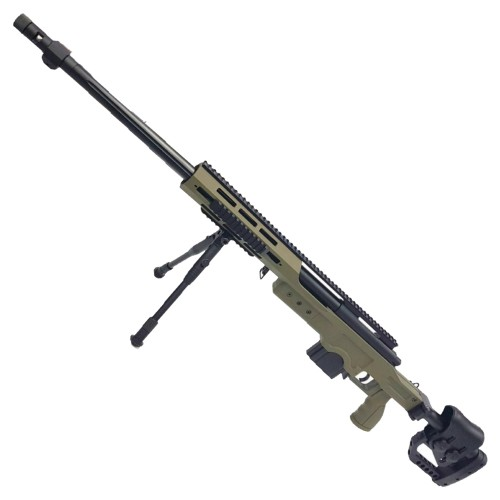 WELL SNIPER BOLT ACTION RIFLE WITH BIPOD OLIVE DRAB (MB4411V)