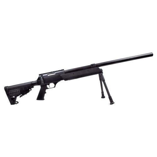 WELL SNIPER SPRING POWERED COMPACT RIFLE WITH BIPOD BLACK (MB13A)
