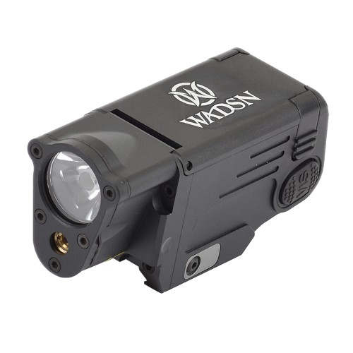 WADSN RED LASER AND FLASHLIGHT FOR PISTOLS BLACK (WM113-B)