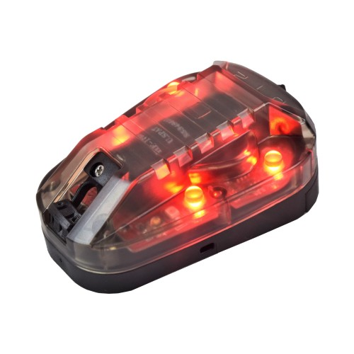 WADSN SIGNAL LAMP FOR HELMETS BLACK RED LIGHT (WD3001-BRED)