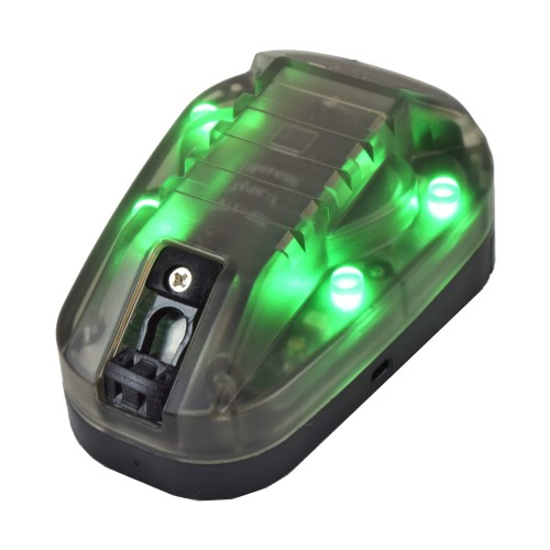 WADSN SIGNAL LAMP FOR HELMETS BLACK GREEN LIGHT (WD3001-BGREEN)