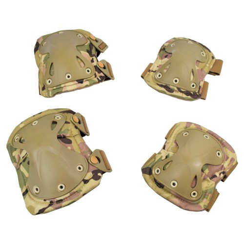 WOSPORT KNEE PADS AND ELBOW PADS MULTICAM (EX-PA3MC)