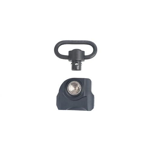 METAL QD SLING SWIVEL WITH MOUNT FOR 20mm RAILS BLACK (ME4018-B)