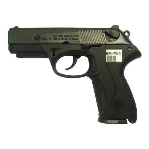 BRUNI GUNS TOP FIRING BLANK PISTOL P4 CALIBER 8MM BLACK (BR-PX4)