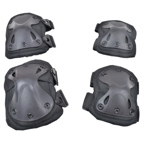 WOSPORT KNEE PADS AND ELBOW PADS BLACK (EX-PA3BK)