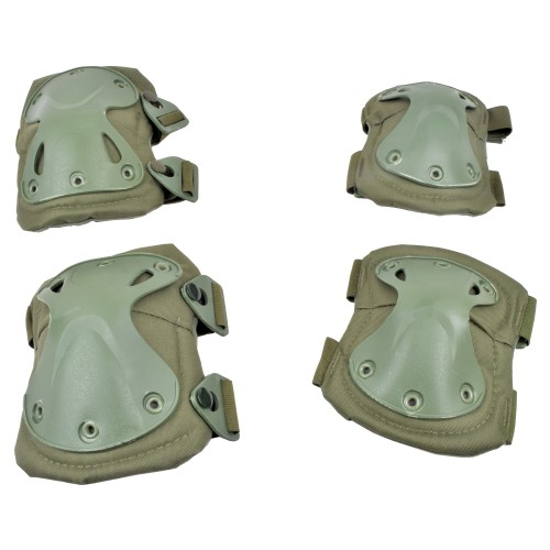 WOSPORT KNEE PADS AND ELBOW PADS OLIVE DRAB (EX-PA3OD)