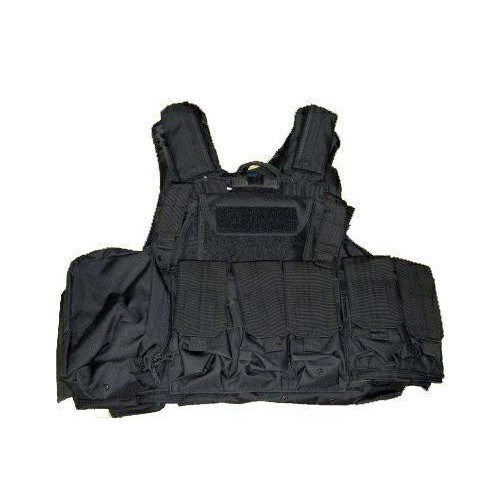 ROYAL TACTICAL VEST C.I.R.A.S. STYLE NERO (V1026B)